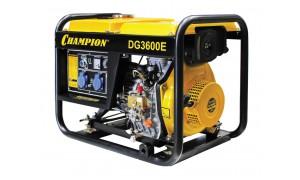 Генератор диз. CHAMPION DG3600E (3/3,3Квт 6,7лс 11,5л 82кг 1,2л/ч 12V эл.старт колеса)