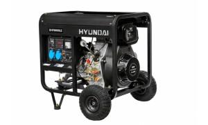 Генератор дизельный HYUNDAI DHY 8000LE + колеса