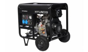 Генератор дизельный HYUNDAI DHY 6000LE + колеса