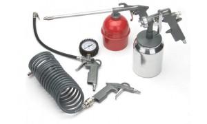 Набор (краскопульт с нижним бачком) пневмоинструментов 5 предметов PRORAB 8031/1